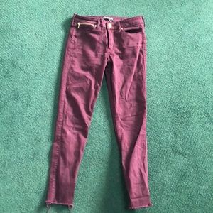 Abercrombie Super Stretch Maroon Jeans